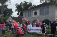 Armed racists held a 'White Lives Matter' rally outside the NAACP's Houston office
