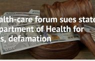 Health-care forum sues state Department of Health for cuts, defamation