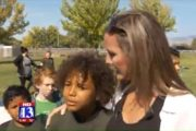 Hundreds walk boy home from school after bullies shout racial slurs