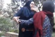 "Screaming woman 'is viciously beaten by women in Iran because her red headscarf is deemed an ""insufficient"" hijab'"