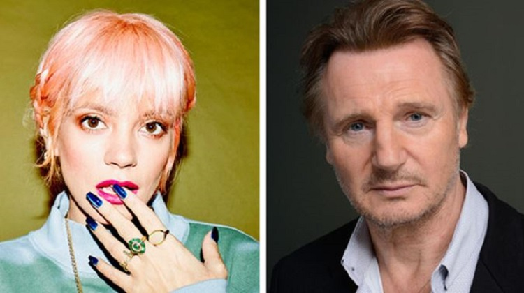 Lily Allen dedicates anti-racism song to Liam Neeson