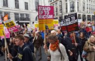 London anti-racism march draws tens of thousands of protesters