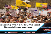Declaring war on Trump and Republican racism