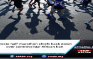 Trieste half-marathon chiefs back down over controversial African ban