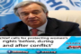 UN chief calls for protecting women's rights 'before, during and after conflict