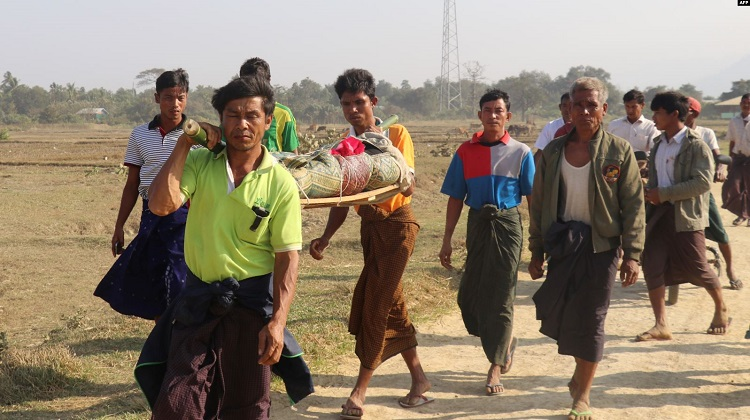 Thousands Displaced by Intensified Fighting in Myanmar's Rakhine State