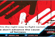 Is this the right way to fight racism