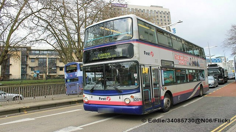 Man targets Muslim woman with racist abuse then punches adjacent bus window