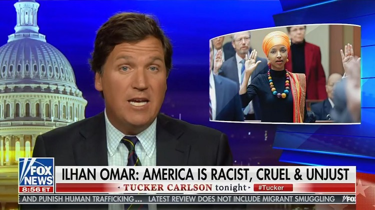 Tucker Carlson widely condemned for racist and nativist remarks about Rep. Ilhan Omar