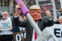 Trump to face protests by NHS staff when he arrives in London