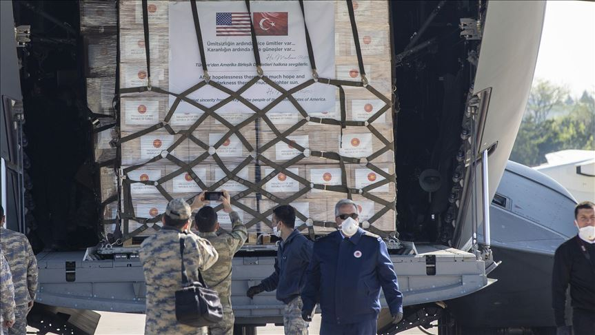 Turkey delivers medical aid to US to help fight virus